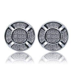 CZ Sterling Silver Micro-Studded Earrings